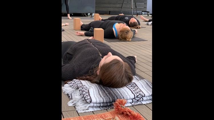 Dobbes yoga class