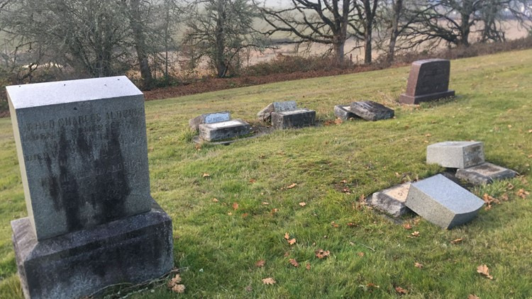 Headstones damaged at Forest View Cemetery