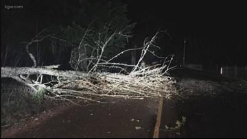 Rain, strong winds sweep Oregon coast and Portland area