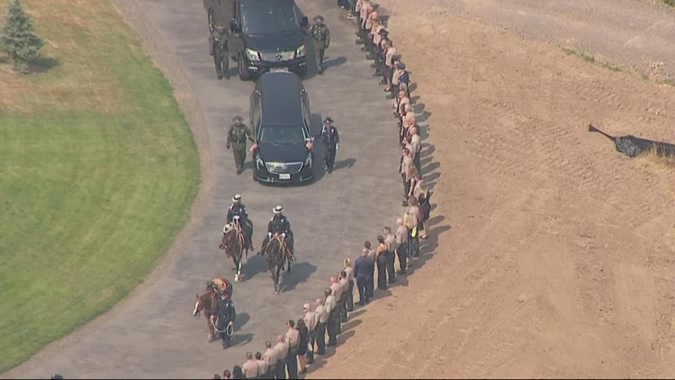 Family, community honor fallen Clark County Sgt. Jeremy Brown during memorial service