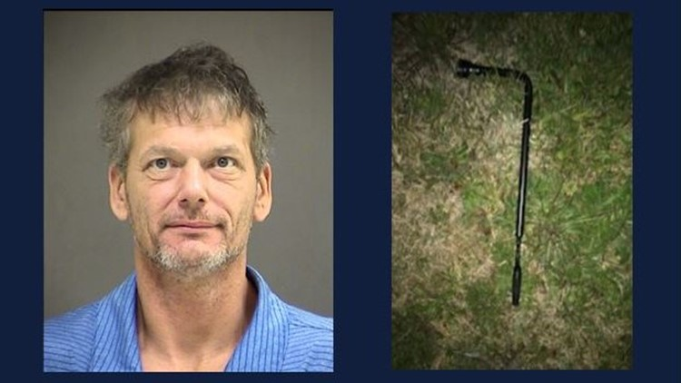 Michael Henry and the tire iron deputies say he used in the attack