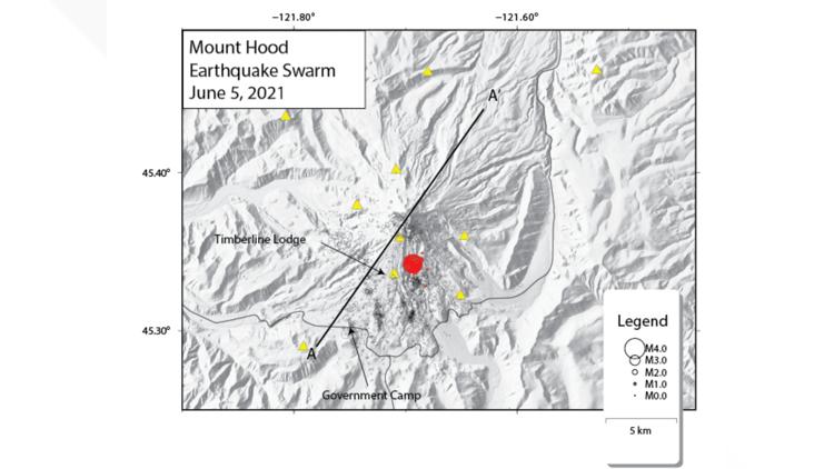 3.9 magnitude earthquake hits Mount Hood near Government Camp
