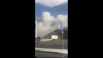 Fire breaks out in Biggs Junction, Oregon