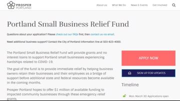 Business owners in Portland can apply for help through $2M small business relief fund