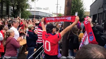 'I could cry': Fans celebrate U.S. women's World Cup title at viewing party in Portland