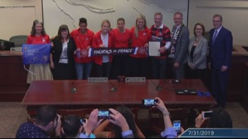 Portland Thorns honored by city council