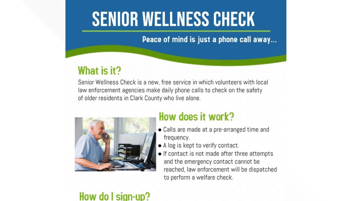 Two Oregon Sheriff S Offices Create Senior Welfare Check Program Kgw Com