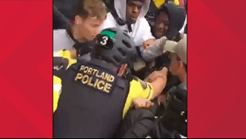 Two teens arrested during Portland climate rally march