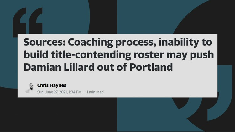 Reports say Damian Lillard may leave the Blazers