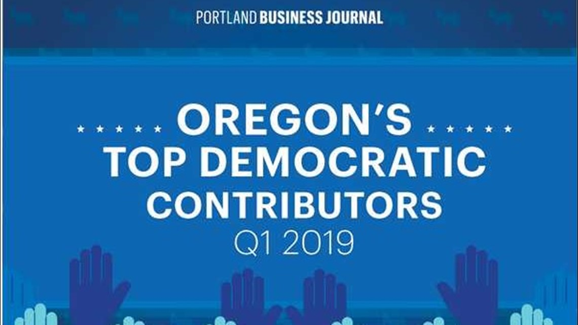 Meet Oregon's biggest donors to Democratic presidential candidates