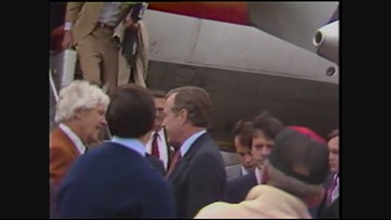 Archive video: George H.W. Bush makes 1980 campaign stop before Oregon primary