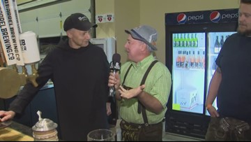 Rod on the road: Rod chats with Mount Angel Abbey brewmaster Father Martin Grassel