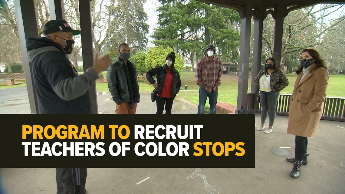 What happened to a program to recruit teachers of color in Oregon?