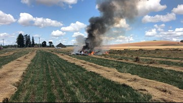 Small plane crashes during emergency landing east of Salem; Portland pilot released from hospital