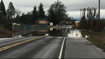'It's not safe': Flooding closes roads in Washington County