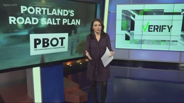 When and where will Portland use salt if it snows?