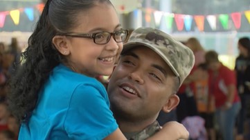 WATCH: Soldier surprises daughter at Veterans Day assembly