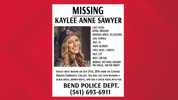Kaylee Sawyer's missing persons poster