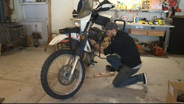 Oregon man to ride motorcycle to Argentina, cleaning beaches along the way