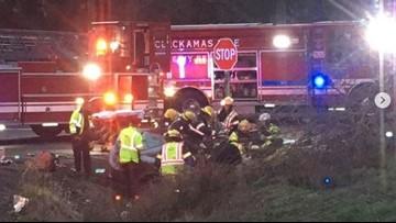 Crash closes Highway 26 at Multnomah-Clackamas County line; 1 person Life Flighted