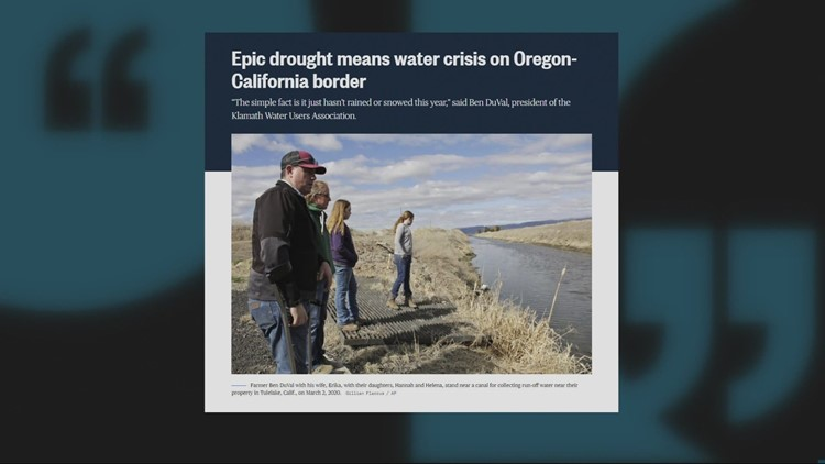 Southern Oregon drought could mean trouble for farmers