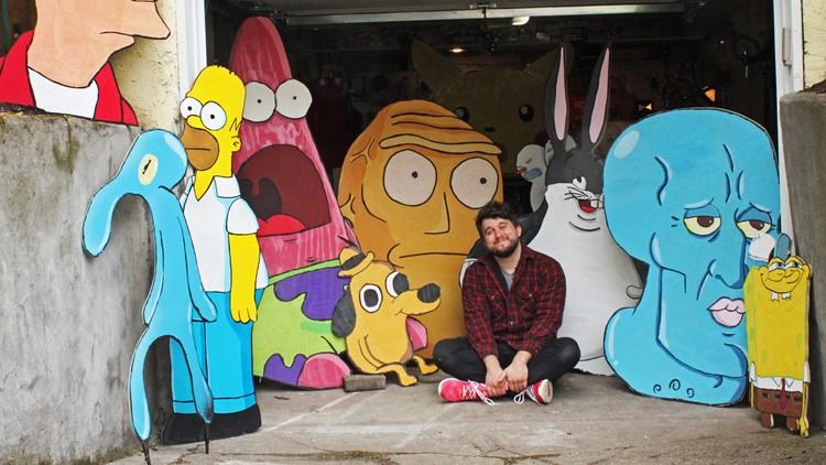 Portland-based artist creates art scavenger hunt, hides memes and cartoons across city