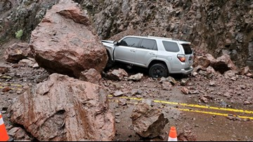 Landslides close Columbia River Highway, giant boulders fall on Southern Oregon highway
