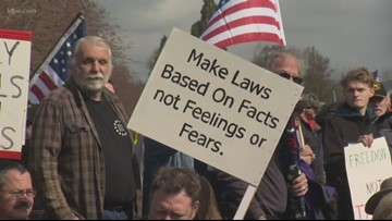 Nearly 2,000 people rally for Second Amendment rights in Salem