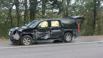 Motorcyclist, sidecar rider die after swerving to miss deer, hit SUV on Highway 22
