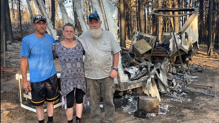 Family who lost everything to Bootleg Fire setting out to keep hot spots from flaring up