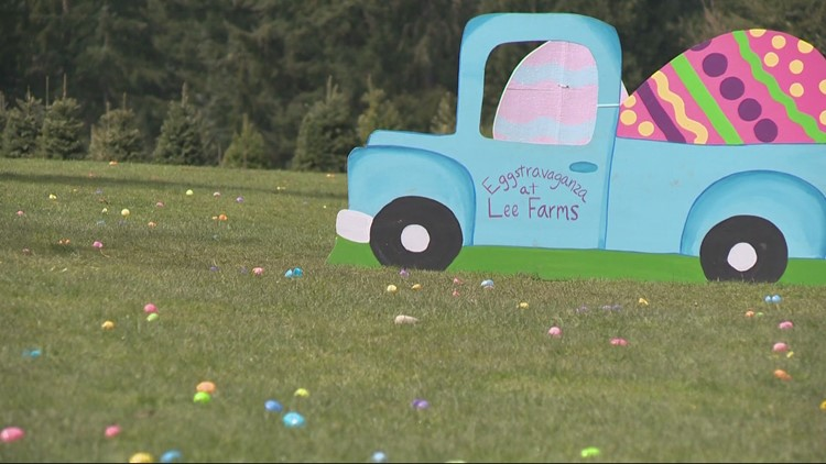 Lee Farms in Tualatin keeps tradition rolling with a modified Easter egg hunt