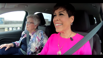 KGW Carpool with Barbara Roberts, Oregon's first female governor