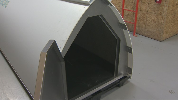 Portland nonprofit's innovative plastic tents to be distributed to homeless people