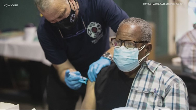 'We got the word out': Multnomah County holds COVID-19 vaccine clinic for BIPOC community