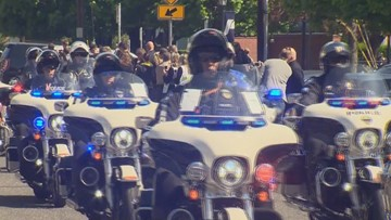 'We're all family': Hundreds across Pacific Northwest come for procession of Deputy Justin DeRosier