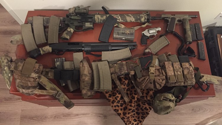 Guns and ammunition seized by police