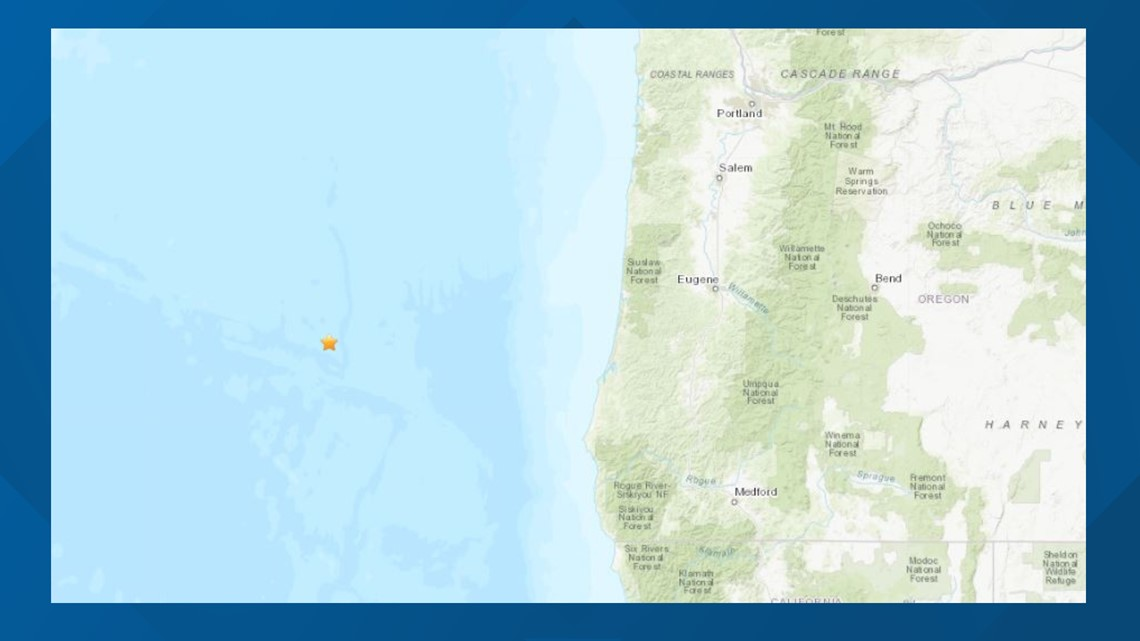 5.3 earthquake Wednesday morning off Southern Oregon coast