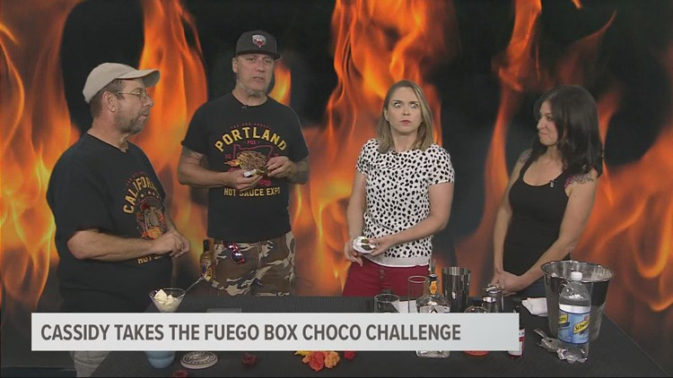 Cassidy tries the hottest chocolate in the world... on purpose