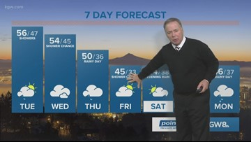 Storm blows through, a mild afternoon expected