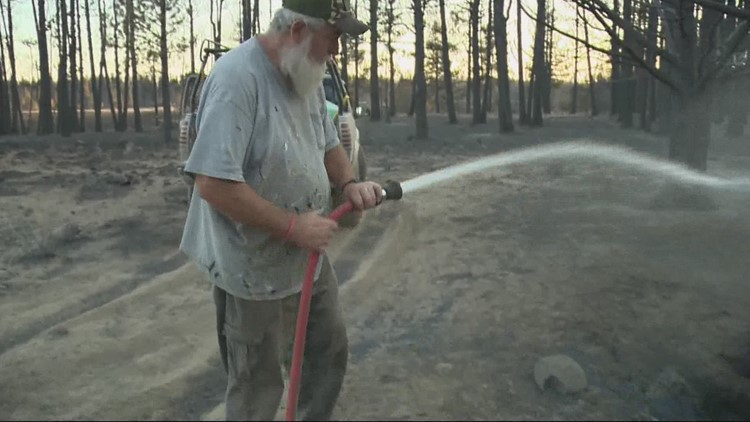 Family who lost everything in Bootleg Fire are putting out hot spots
