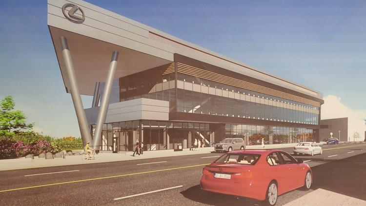 Lexus dealership rendering