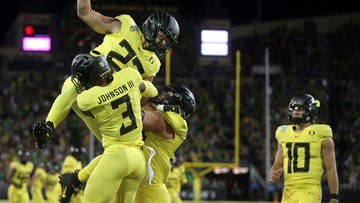 Oregon ranked No. 7 in first College Football Playoff rankings