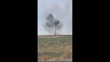 Raw video: Juniper Fire