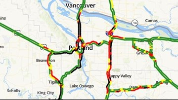 Traffic mess: Various closures led to nightmare evening commute in Portland metro area