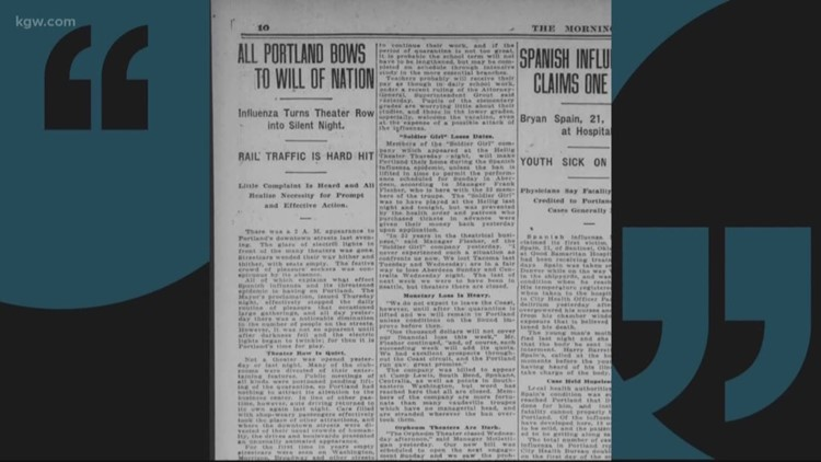 KGW Vault: Looking back at another pandemic – Spanish Flu
