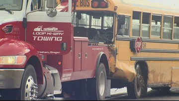 10 hurt in David Douglas school bus crash near Sandy