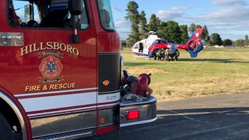 Bicyclist hit by driver in Hillsboro, flown to hospital with serious injuries