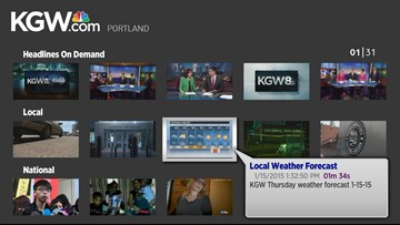 KGW News now available on Roku