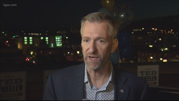Portland Mayor Ted Wheeler announces re-election campaign