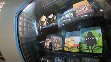 Vancouver students rewarded by book vending machine